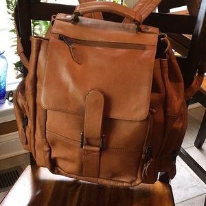 Awesome handcrafted leather backpack
